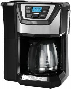 Black & Decker 12-Cup Mill and Brew Coffeemaker