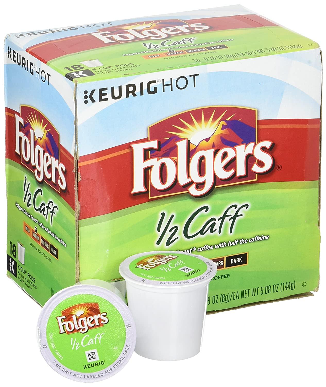 Folgers Half Caff Coffee Keurig K-Cups (Half Caff)