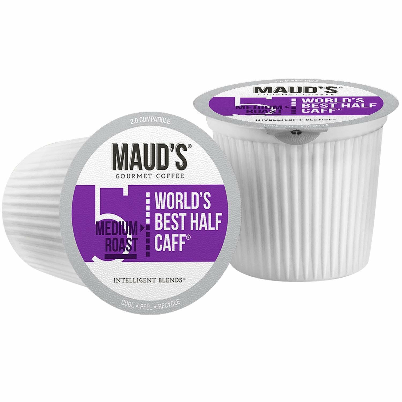 Maud's Half Caff K Cups, Medium Roast