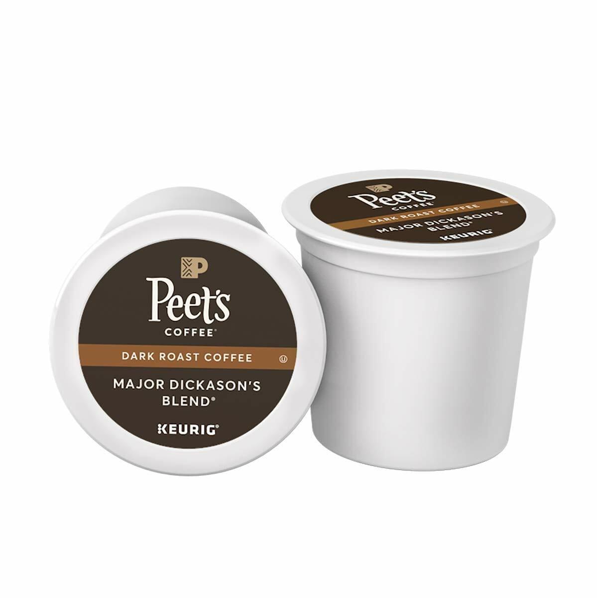 Peet's Coffee Major Dickason's Blend, Dark Roast, K-Cup