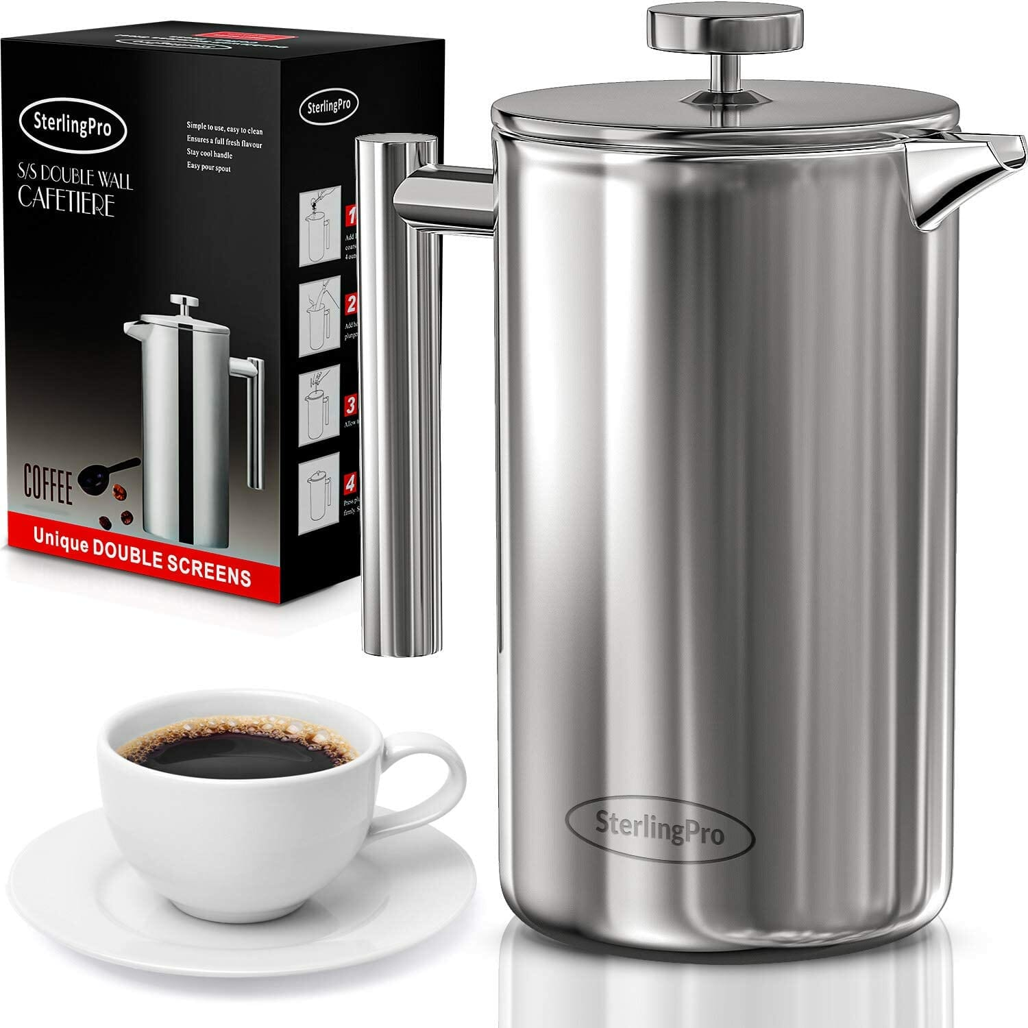 SterlingPro French Press Plastic Free Coffee Maker